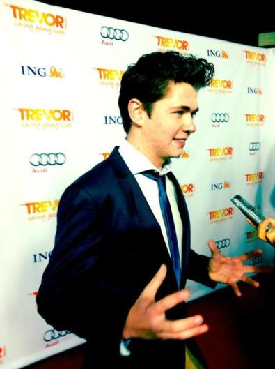 Damian at Trevor Project event